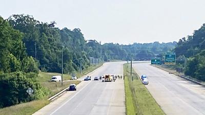 I-485 crash scene