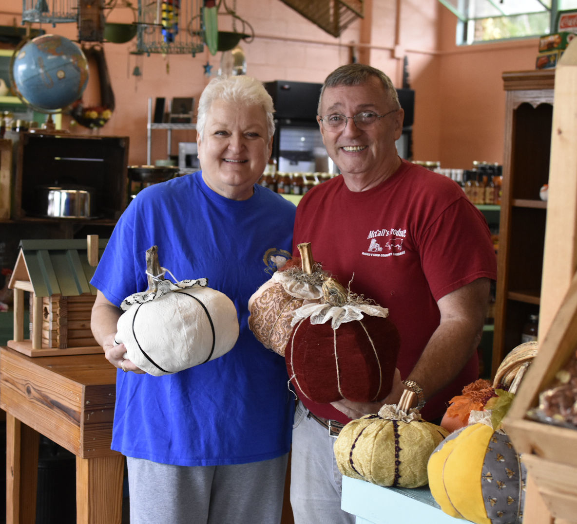 McCall's Produce Market features Halloween crafts