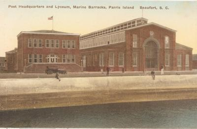 The First Marine Guards are Posted at Port Royal