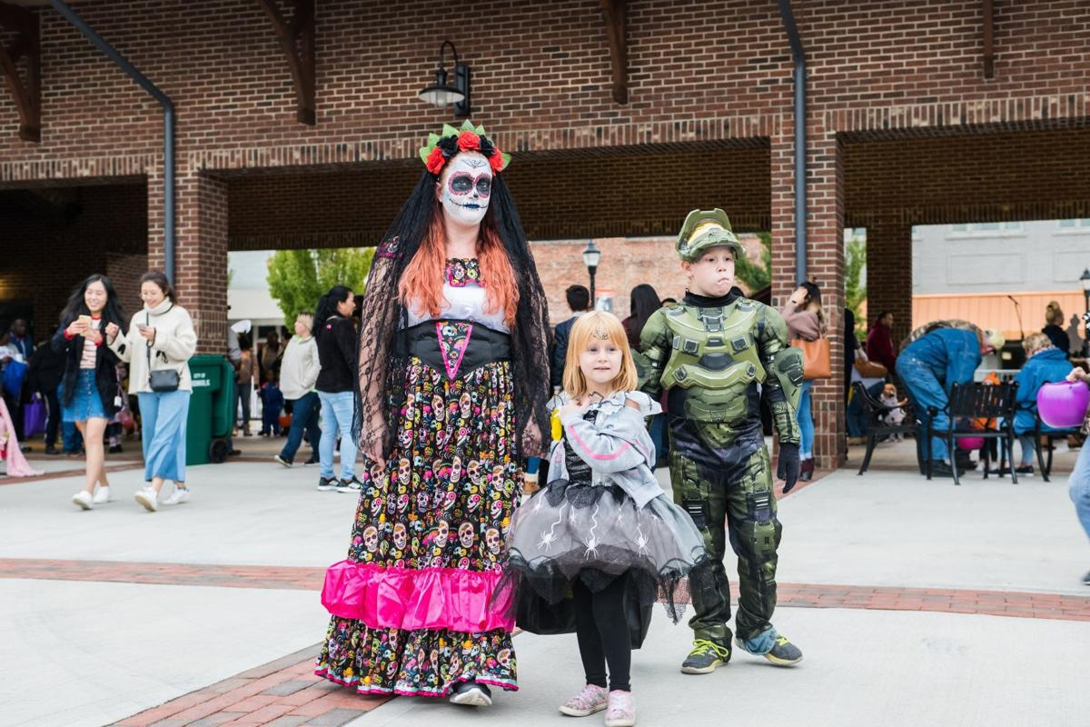 The costume contest for Uptown Greenwood's Boo Bash showcases creativity