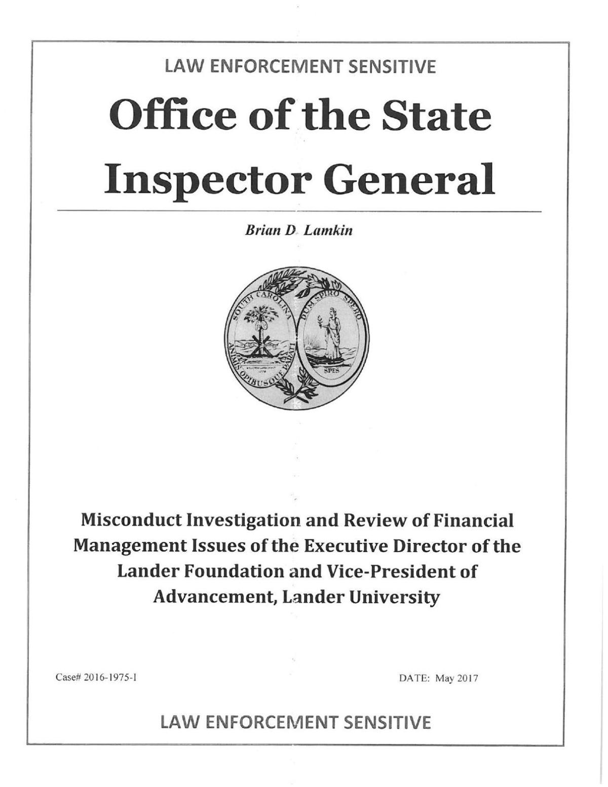 OIG misconduct investigation report | | indexjournal com