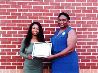 Thompson awarded scholarship by Zeta Phi Beta Sorority