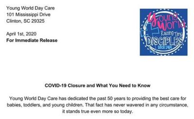 Young World Day Care release