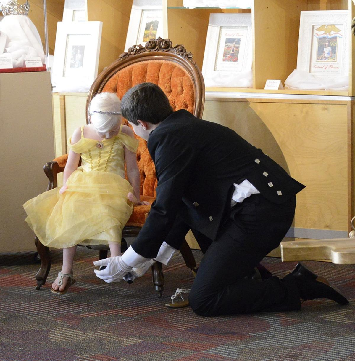 Trying on a glass slipper