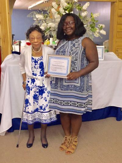 Scholarship awarded to Donaldson from Zeta Phi Beta Sorority