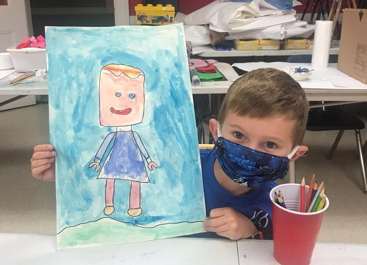LEGO self-portraits in an art camp at Arts Center of Greenwood