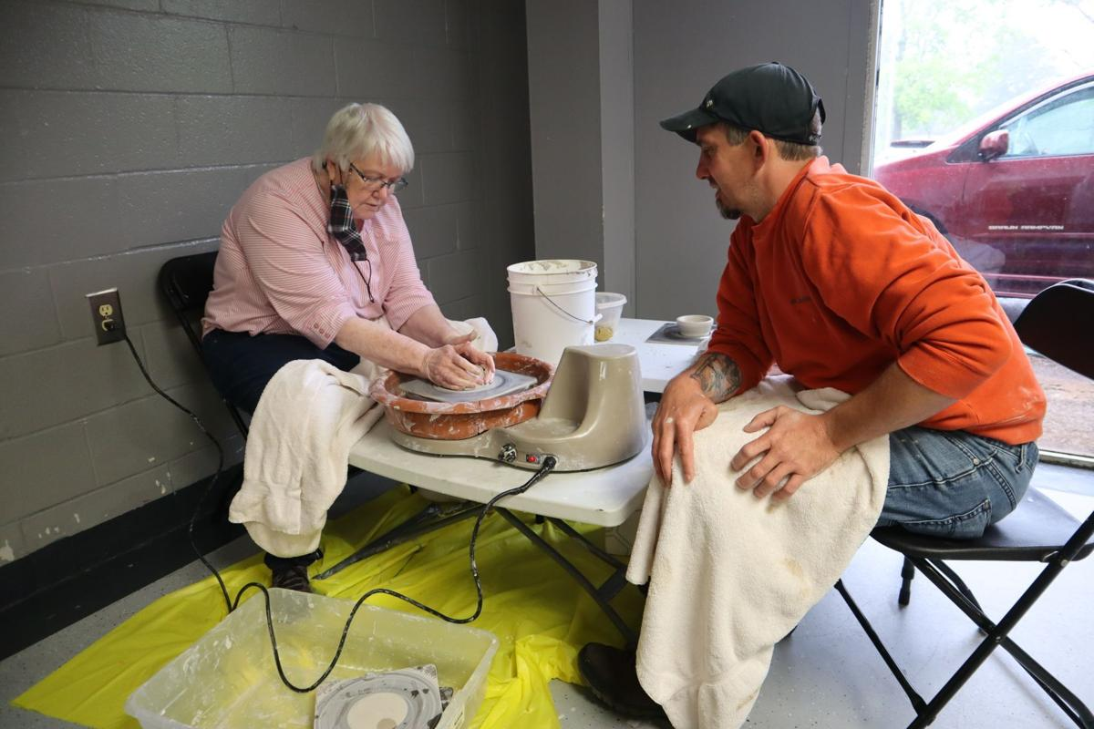 Working at the potter's wheel