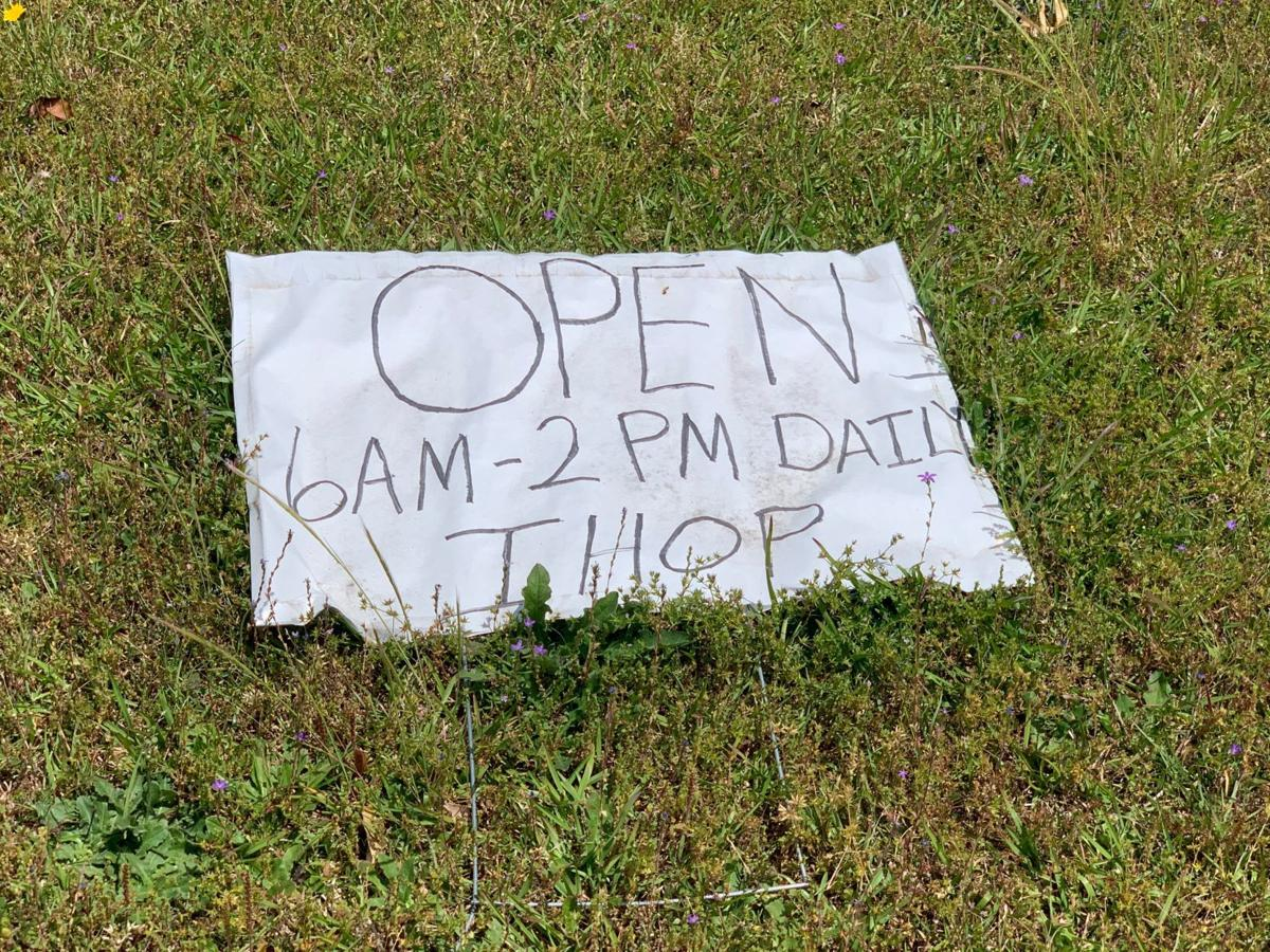 IHOP yard sign