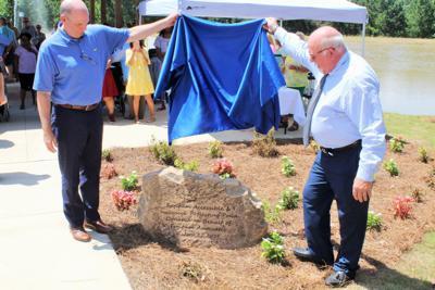 Fujifilm donates accessible pond and pavilion at Burton Center