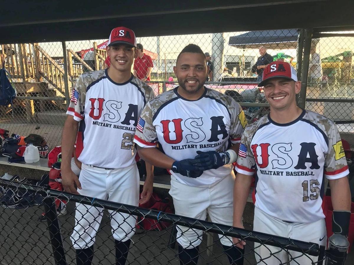 USA Warriors pose