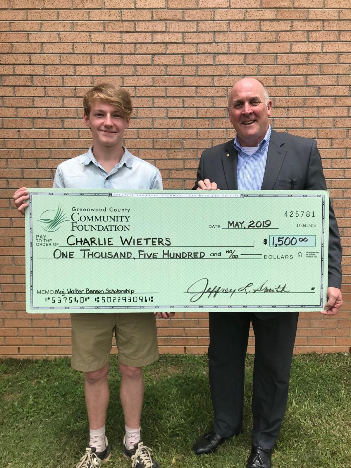 Four Greenwood High School Seniors Receive Major Benson Scholarships