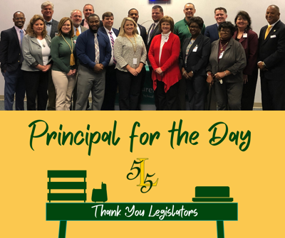 Annual Principal for the Day event welcomes legislators to LCSD 55