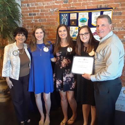 Rotary Club presents award to Lander University Rotaract Club