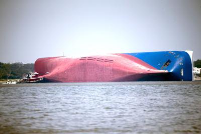 Overturned Cargo Ship-Georgia