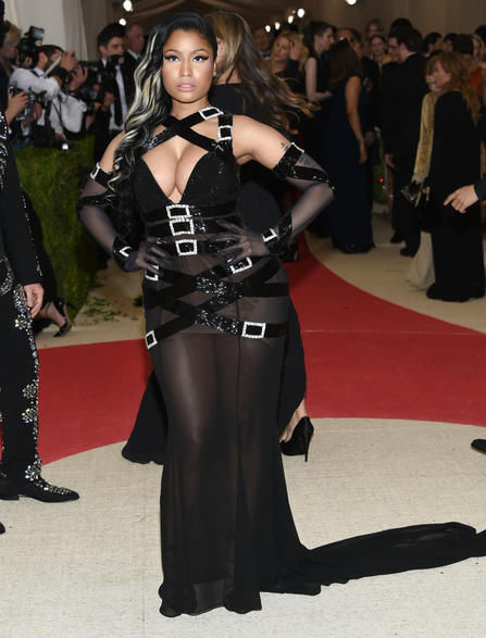 115870ae9f2 Light-up gowns and gladiators  Met Gala fashion was fierce. Nicki Minaj  arrives at The Metropolitan Museum of Art Costume Institute Benefit ...