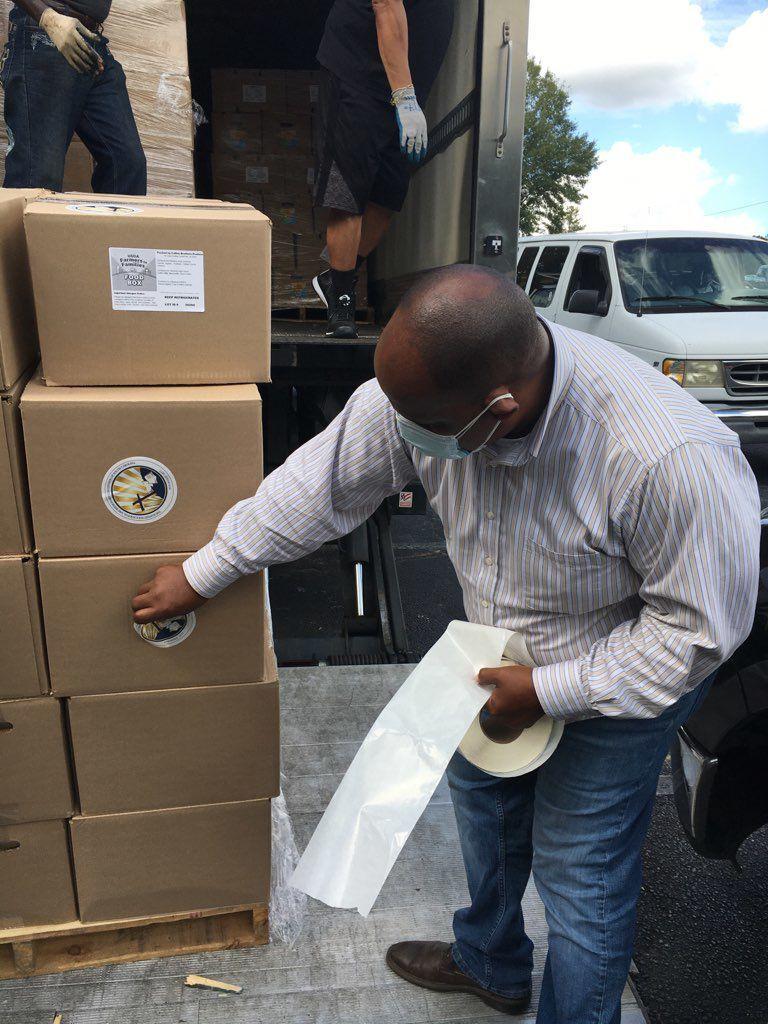 LRMBA participates with the USDA Farmers to Families Food Box partnership