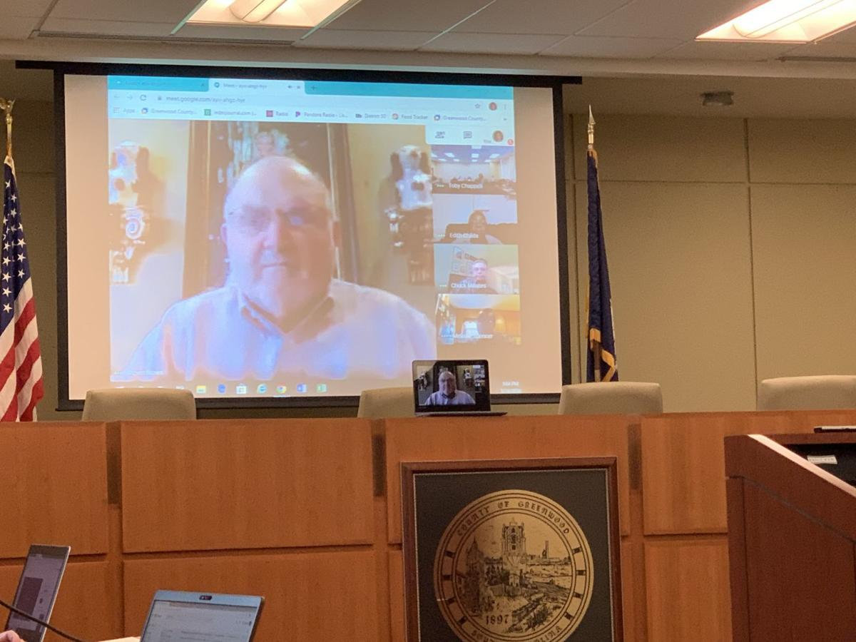 Steve Brown on council video conference