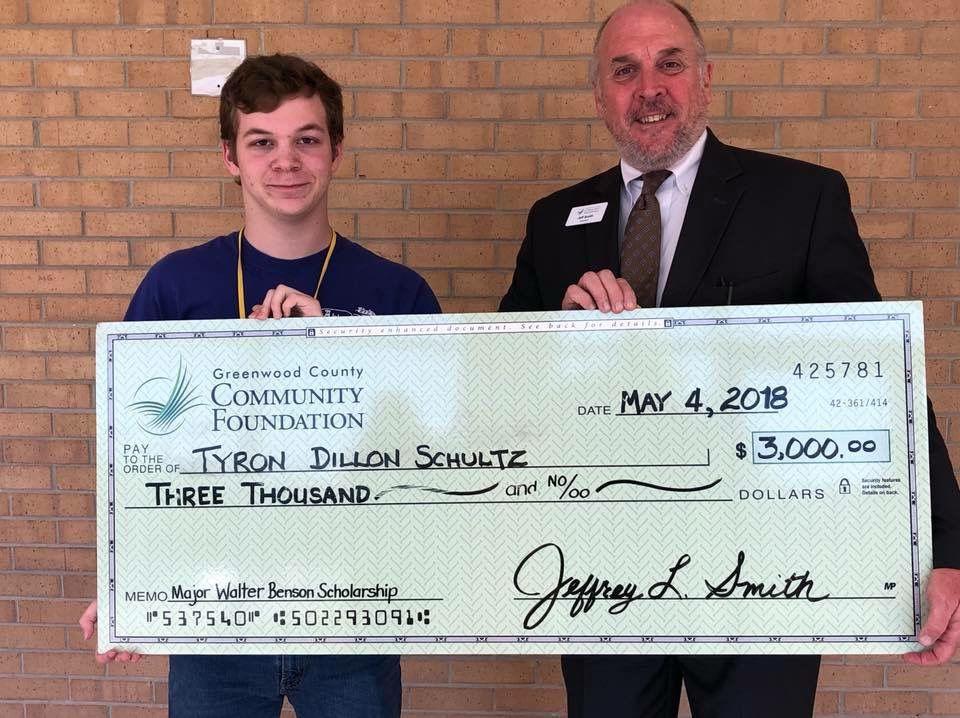 Greenwood High School seniors receive Major Benson Scholarship