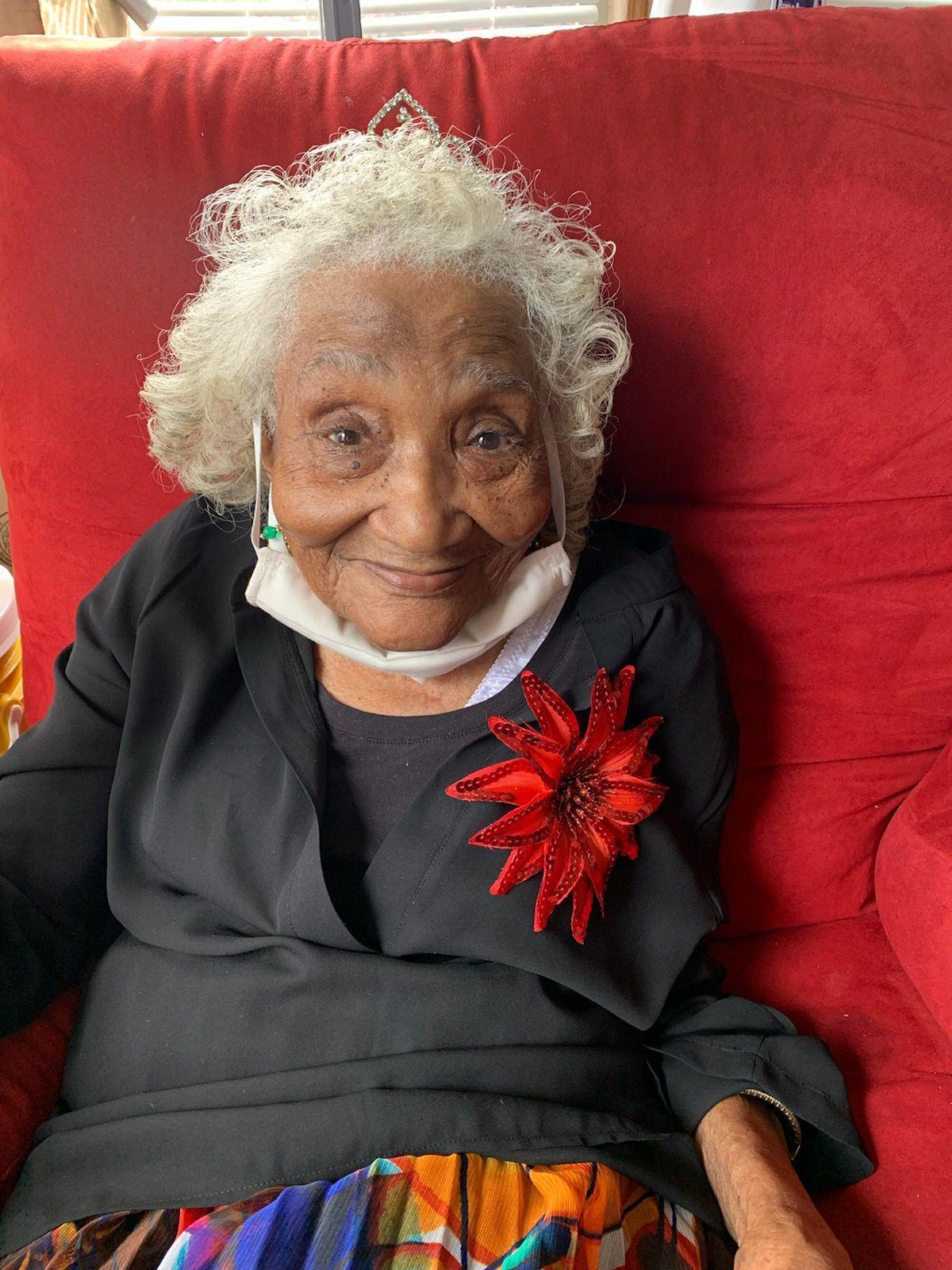 Clara Reed enjoys her 107th