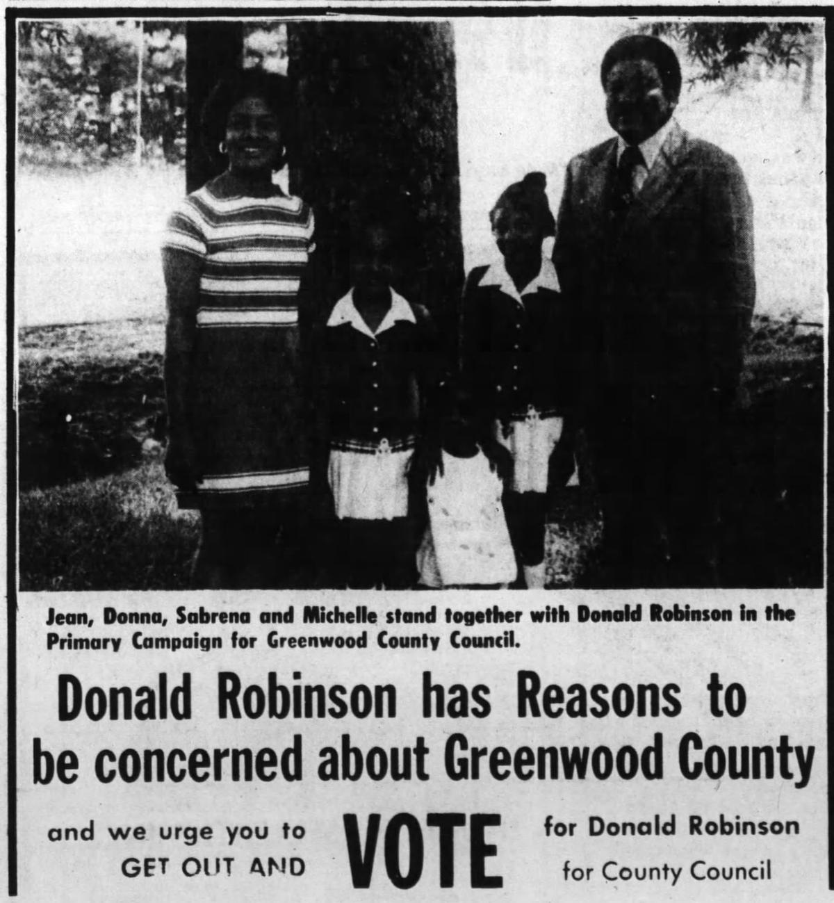 Donald Robinson ad