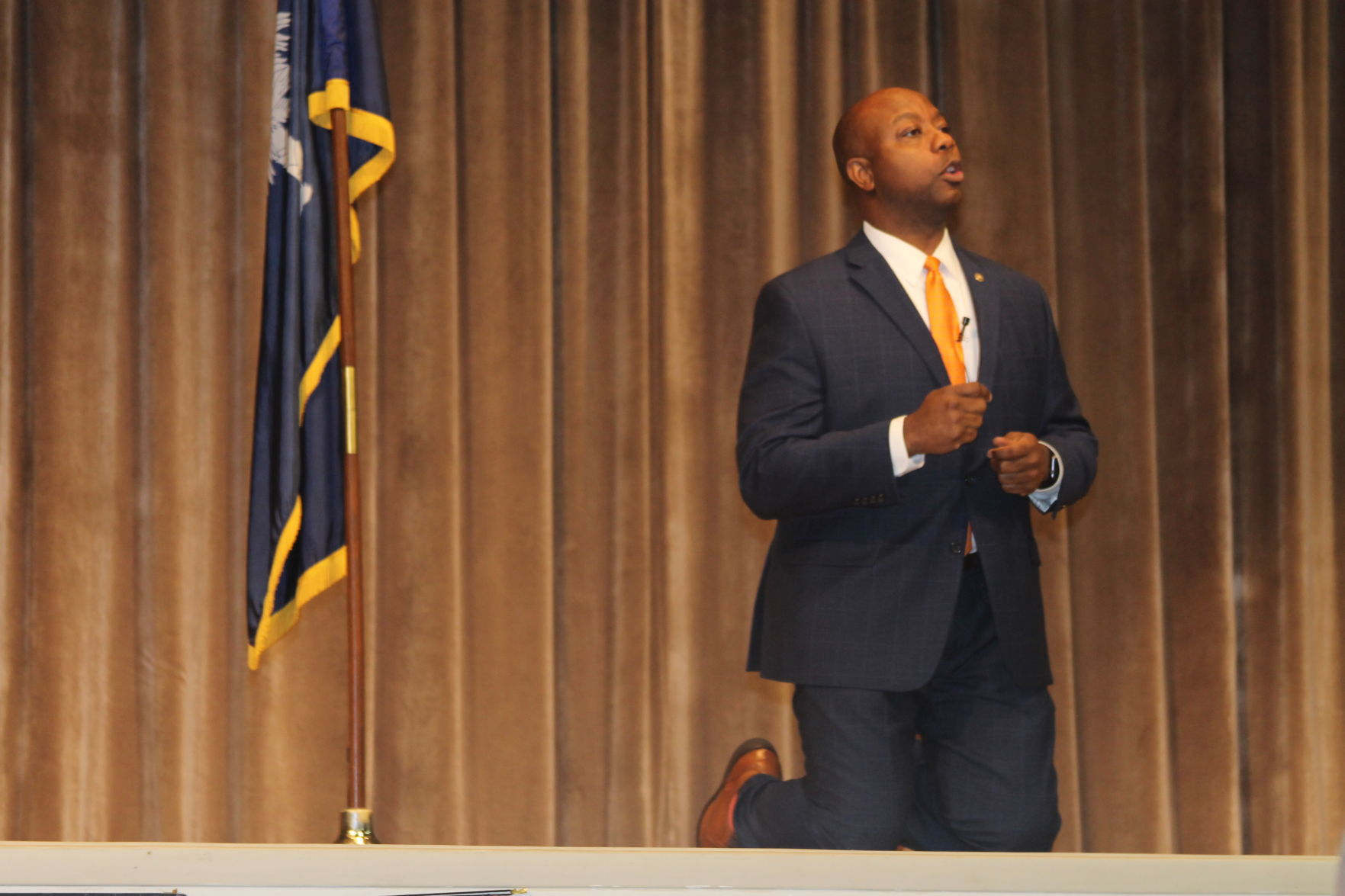 Tim Scott R South Carolina opened his remarks