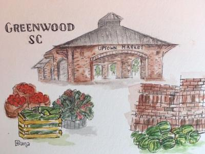 Sketches by Dana Gonzalez are included in a new calendar available at Uptown Market