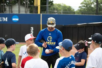 Lander hosts baseball camp