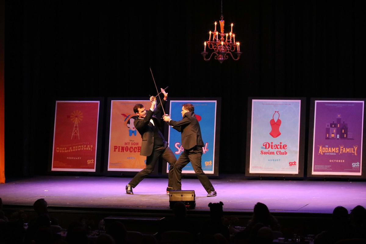 Comedic hosts Ryan S. Hewitt and John Keenan duel it out during the 2018 cabaret at GCT
