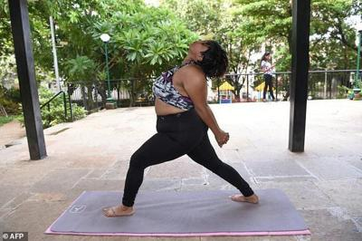The Indian Woman Defying Body Stereotypes Through Yoga India Indiaabroad Com