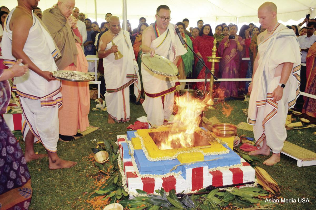 Ground breaking ceremony for temple in Illionis