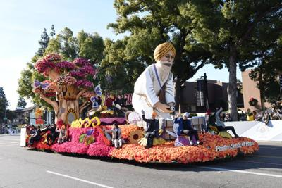 Sikh Americans participate in Rose Parade in California
