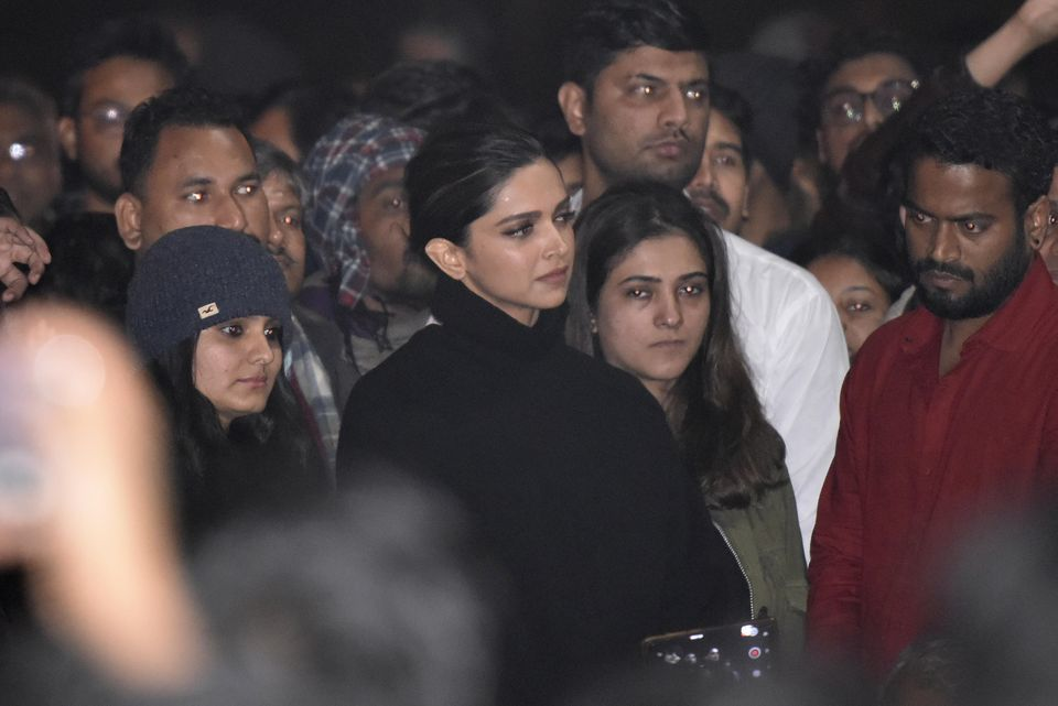Furor after top Bollywood star attends student demo