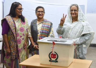 Bangladesh's Hasina wins a third term but opposition contests results