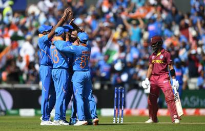 India's Shami dents West Indies World Cup chase
