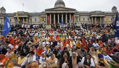 hundreds of sikh separatists rally in london diaspora
