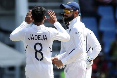 India put Windies on back foot in first Test
