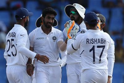 Bumrah leads India to 318-run rout of West Indies in first Test