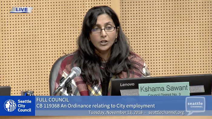 Seattle City Councilwoman Kshama Sawant tables resolution against CAA