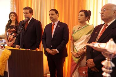 DeSantis hosts first ever Diwali celebration in Florida Governor's Mansion