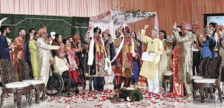 A big, fat Indian-American gay wedding where rituals were rendered gender neutral