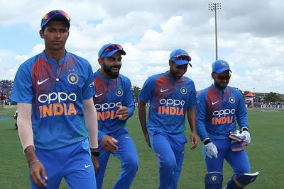 Saini claims three wickets on debut as India defeat Windies