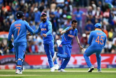 Chahal spin puts India on top in South Africa World Cup clash