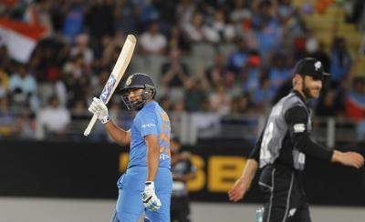 Sharma claims record as India cruise past New Zealand