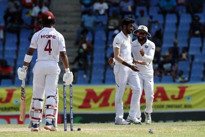 Bumrah, Sharma send Windies crashing to 15-5, chasing 419 to win