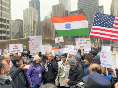 Modi supporters hold rally in Chicago in support of India's new citizenship act
