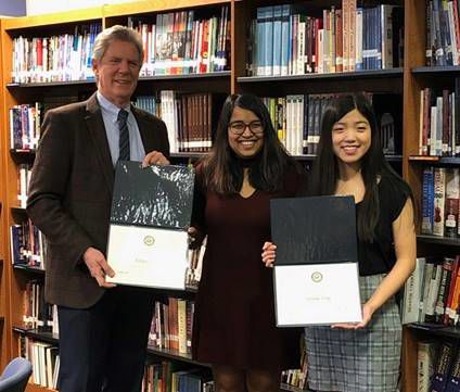 N.J. teen Adhya Khare and her high school partner win Congressman Frank Pallone's 2019 Congressional Challenge