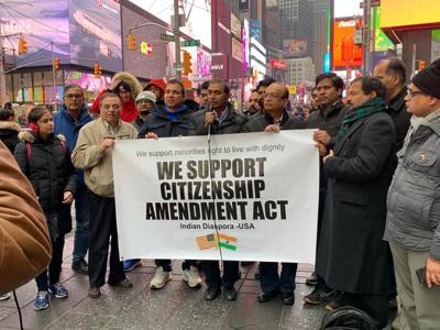 Campaigns in defense of India's citizenship laws gather momentum in the U.S.
