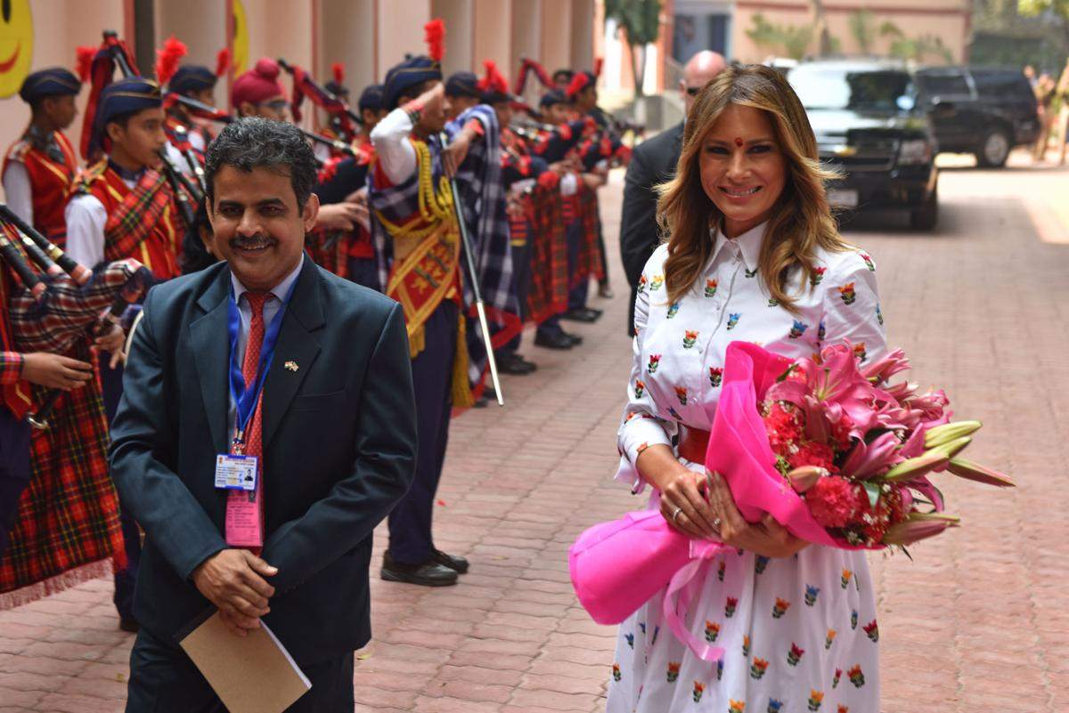 First Lady Melania Trump gives a Desi touch to outfits during India visit