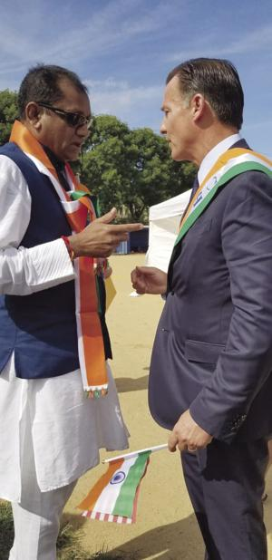 Congressman walks out of India Day Parade when confronted about his stand on Kashmir