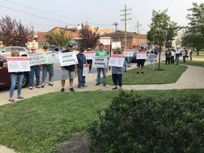 Utility Workers and supporters conduct another informational picket line